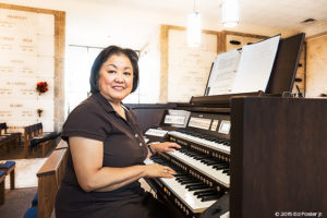 From time to time, Cathedral of St. Jude the Apostle Assistant Music Director, Jo Greene, shares her special talents at the keyboard for the Month's Mind Mass.