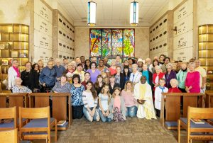 The people who attended the Month's Mind Mass on December 29, 2018 pose for a group photograph.